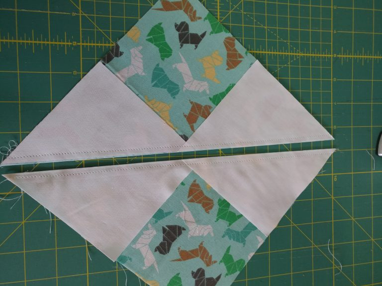 Flying geese quilt block image